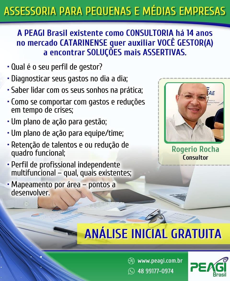 PEAGI BRASIL - ATENDIMENTO INICIAL ONLINE GRATUITA